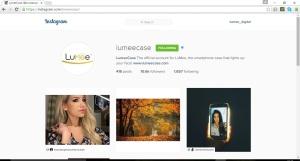 LuMee Instagram Screenshot